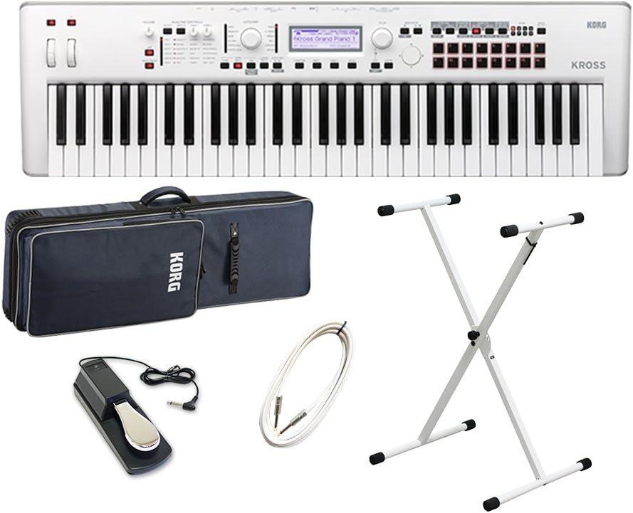 KORG KROSS2-61-SC (ホワイト) シンセサイザー 61鍵盤 ホワイトアクセサリー5点セット コルグ