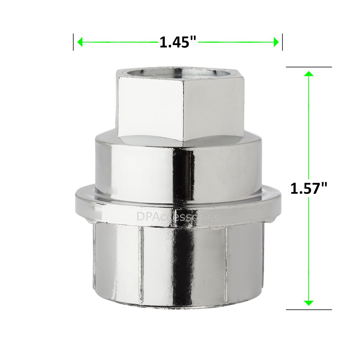 DPAccessories CC-4D-P-OCH05032 32 New Chrome Plastic Wheel Lug Nut Caps - Replaces GM 15646250 / Dorman 99956 Wheel Lug Nut Cap by DPAccessories (Image #4)