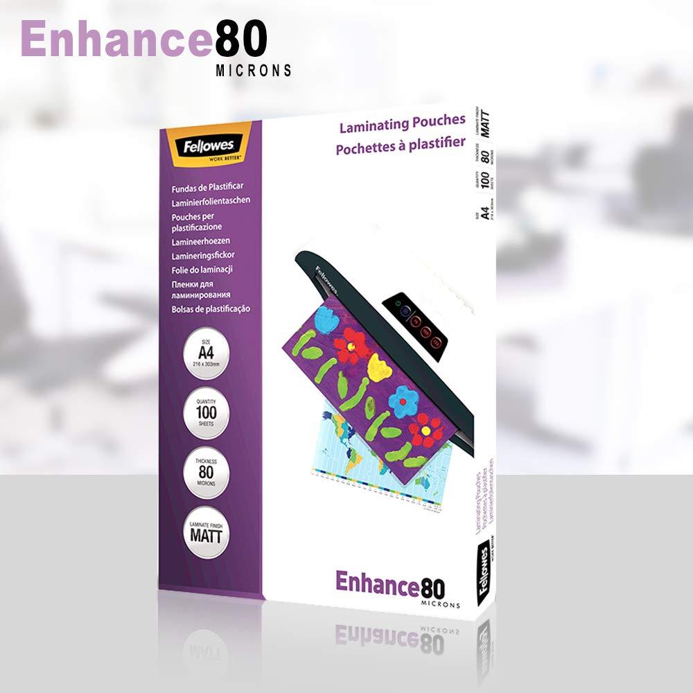 Amazon.com : FELLOWES A4 MATT 160M ENHANCE LAM POUCH ...