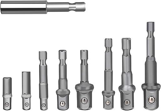 Magnetic Drill Bit Extension+Socket Adapter Impact Hex Shank Drill Bits Bar Set