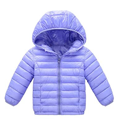 c9d32d4abe2e Amazon.com  FORESTIME Toddler Baby Girls Boys Classic Bubble Jacket ...