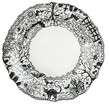 Amazon.com   222 Fifth Wiccan Lace Dinner Plates Set of 4 Black White Halloween Cat Bat Witch Accent Plates  sc 1 st  Amazon.com & Amazon.com   222 Fifth Wiccan Lace Dinner Plates Set of 4 Black ...