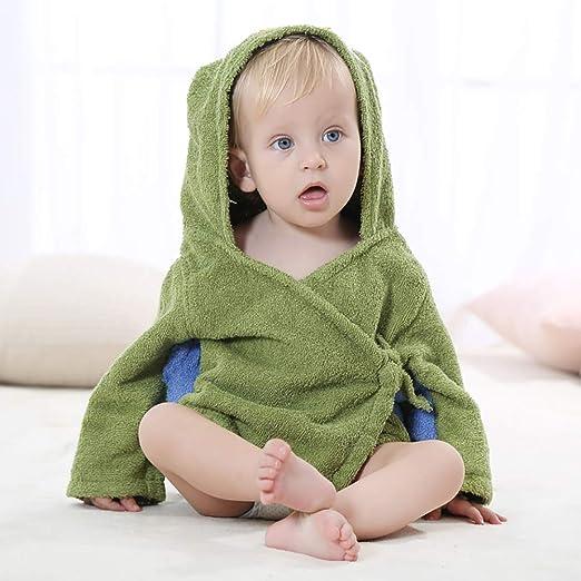 LRQY Bebe Albornoces Niño Toalla con Capucha,algodón Súper Suave Absorbentes Durable Rápidamente Seco,Ducha Regalo para Niña Niño Recién Nacido Infantil,Green: Amazon.es: Hogar