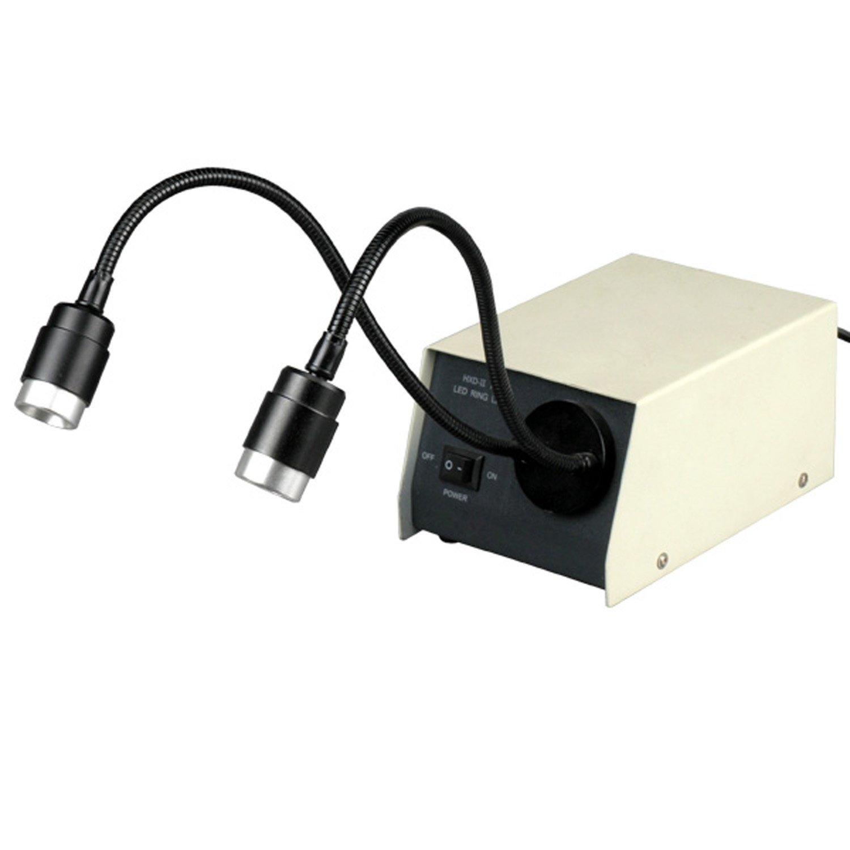 AmScope LED-14M 14-LED Microscope Dual Gooseneck Lights by AmScope