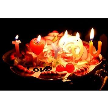 Amazon De Suss I Love You Buchstaben Kerzen Kuchen Deckel Dekoration