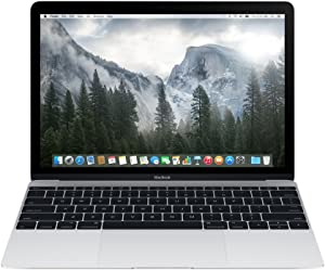 Apple MacBook MF855LL/A 12-Inch Laptop with Retina Display Silver, 256 GB (Refurbished)