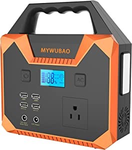 MYWUBAO Portable Power Station 150, Solar Powered Generator,Backup Lithium Battery, 40800mAh/ 150Wh Portable Rechargeable Generator Clean, QC3.0 USB, Supply for CPAP Camping Emergency Backup