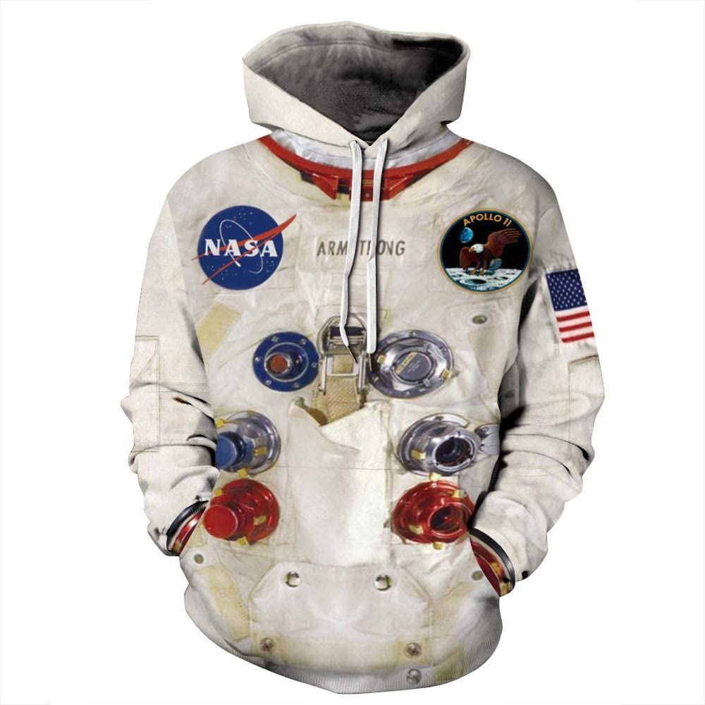 CORIRESHA NASA Space 3D Print Hoodie Sweatshirt with Pocket