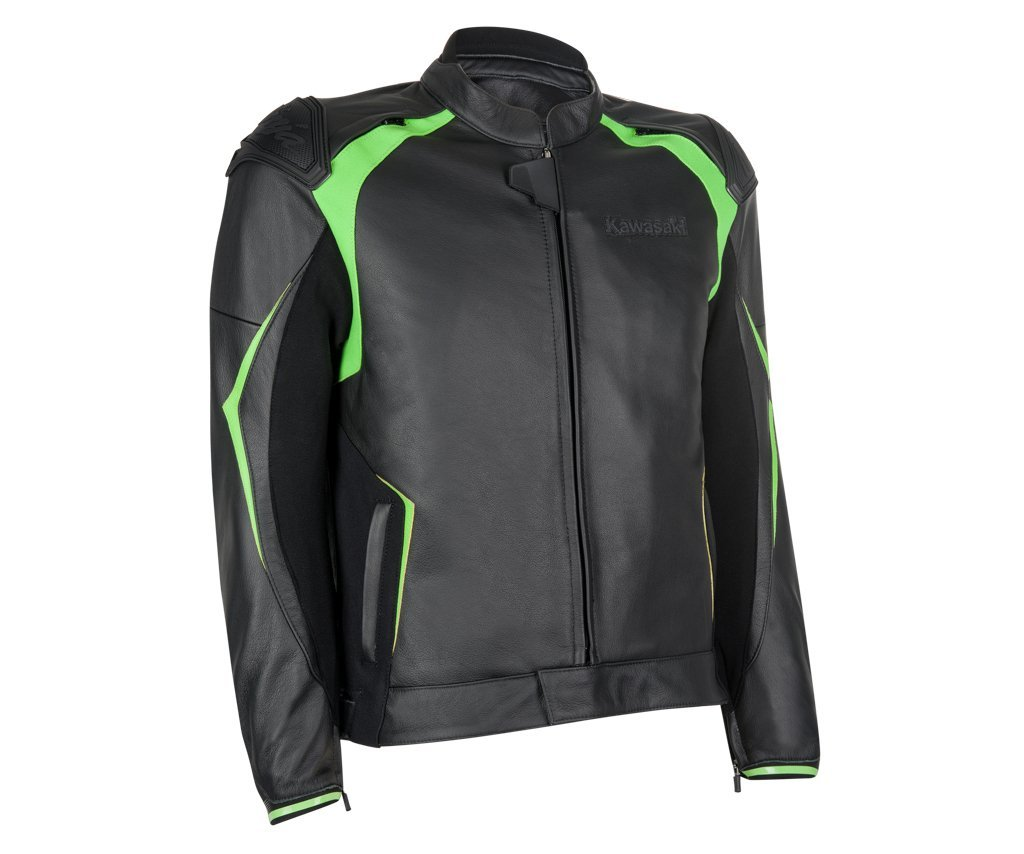 Kawasaki Highline Tourer Chaqueta de piel Talla XL: Amazon ...
