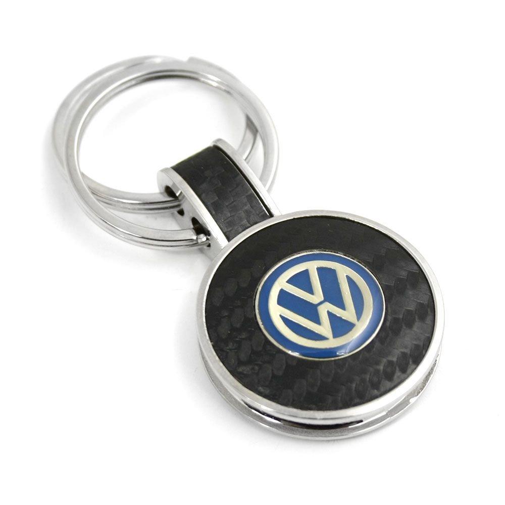 VOLKSWAGEN Porte-clés Porte-clés emblème Argent carbone–noir bleu