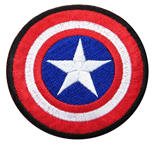 "Captain America Size 2.75"" Inch Super Hero Comic Avenger Embroidered Iron/sew on Patch Ready Cool Patch"