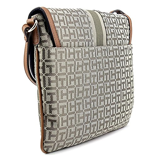 Tommy Hilfiger Maggie Monogram Jacquard Flap Crossbody Donna