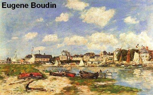 557 Color Paintings of Eugene Boudin (Eugène Boudin) - French Landscape Painter (July 12, 1824 - August 8, 1898) - French Landscape Painters
