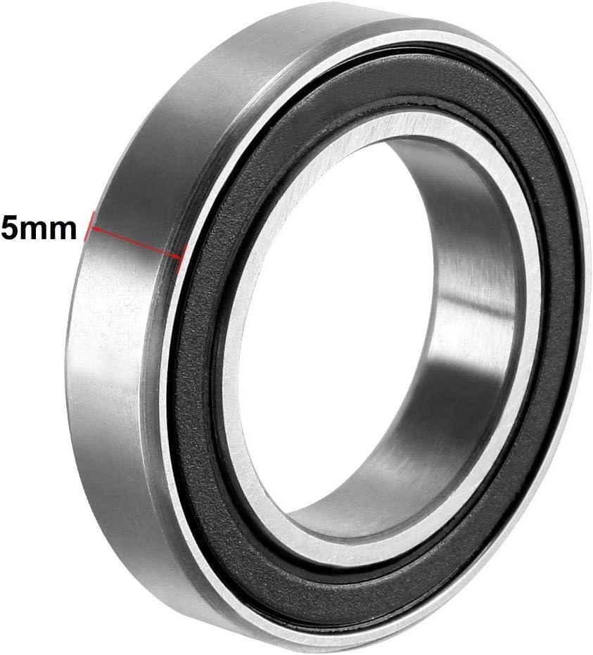 680 /– 2RS 1180802, 15 mm x 24 mm x 5 mm, acero al carbono, 10 unidades Rodamientos de bolas de doble sellado para ranura profunda Sourcing map 6802RS