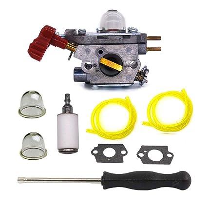 HQParts Carburetor for Craftsman 27cc WeedEater MTD 753-06288 ZAMA C1U-P27  TB2044XP Carb