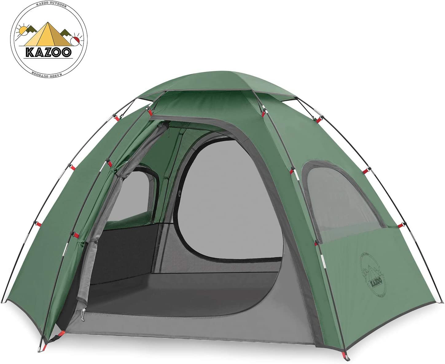 KAZOO Outdoor Family Tent Durable Lightweight Waterproof Camping Tents Easy Setup festival dome Tent Sun Shade 2//3 Person