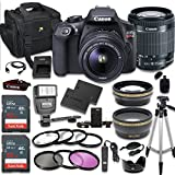 Canon EOS Rebel T6 DSLR Camera Bundle with Canon EF-S 18-55mm f/3.5-5.6 IS II Lens + 2pc SanDisk 32GB Memory Cards + Accessory Kit (CERTIFIED REFURBISHED)