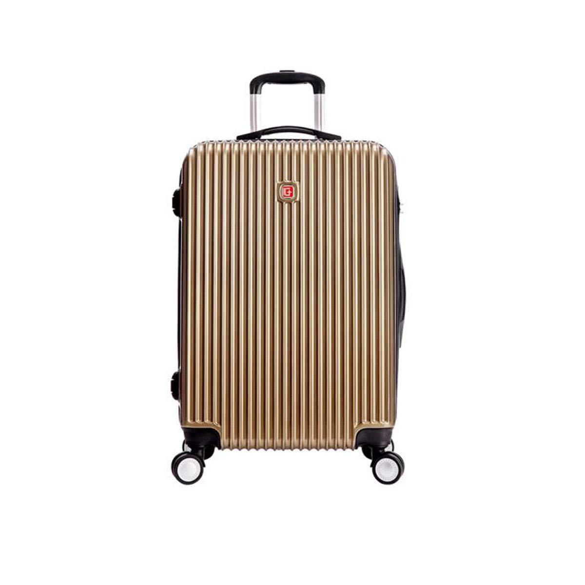 Aishanghuayi スーツケース 耐摩耗性 傷つきにくい ハードケース ローリング TSAロック スーツケース カラー ブラック サイズ(38 24 57) cm (カラー:ピンク サイズ:161023インチ) B07MT88625
