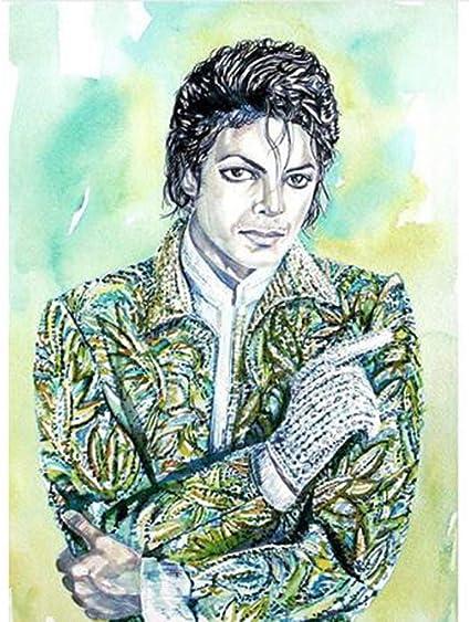Diamant Schilderij Michael Jackson voor Volwassenen Kinderen, 5D Volledige  Boor Diamant Borduurwerk Foto's voor DIY Home Art Craft Schilderij  Decoratie 11.8×15.7in #7: Amazon.nl
