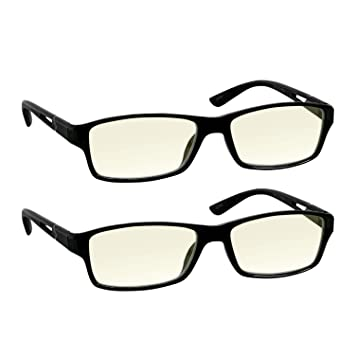 dcaa41c6d42 Amazon.com  Computer Reading Glasses 0.50 Protect Your Eyes Against ...