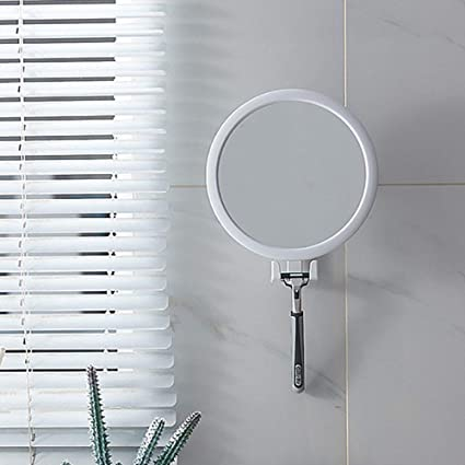 Wbfn Adjustable Bathroom Mirror Drill Free Wall Type Self Adhesive Vanity Mirror With Suction Cup Folding Shaving Mirror For Shower Color Mirror With Holder Amazon Co Uk Kitchen Home