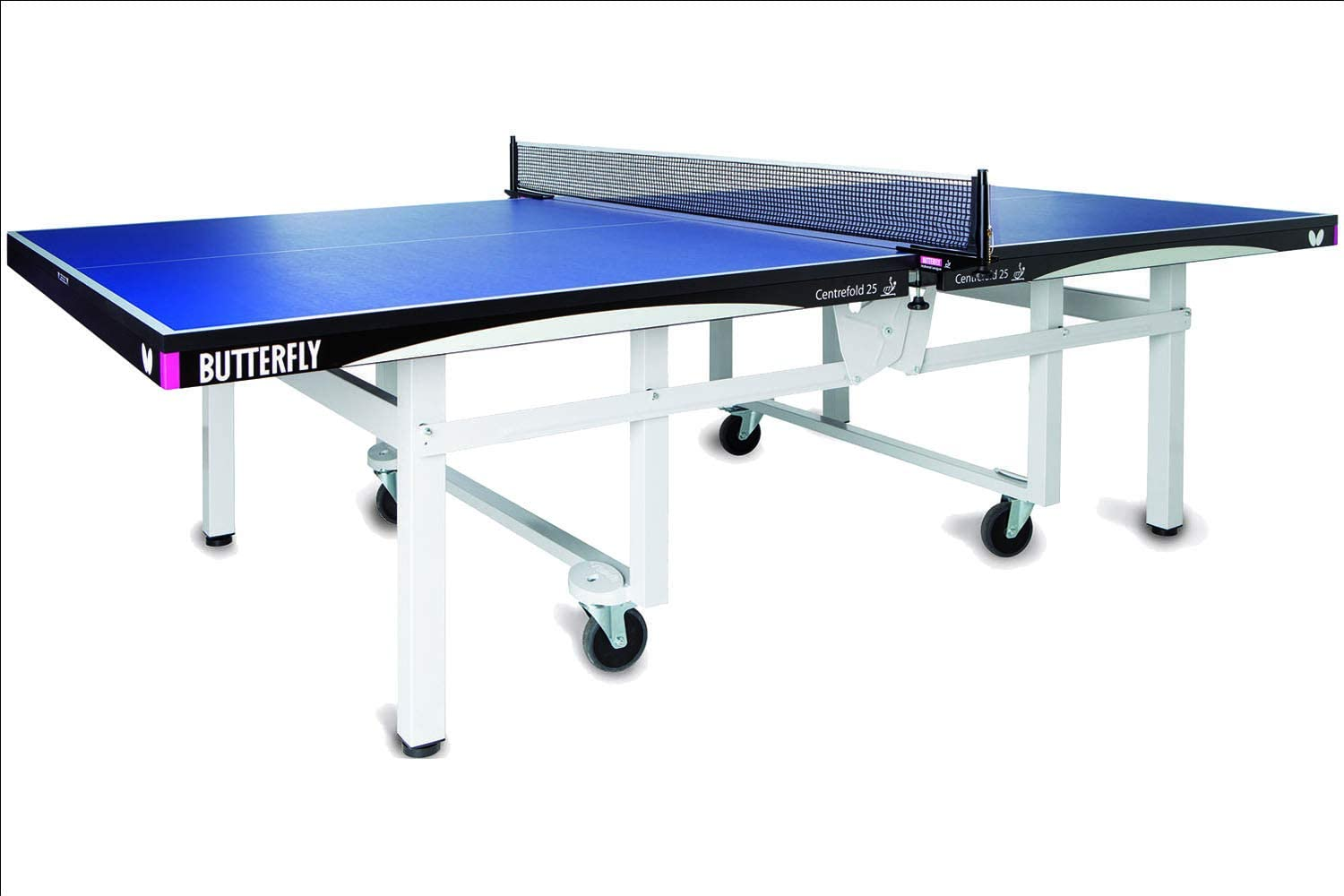 Butterfly Centrefold 7 Table Tennis Table—Indoor Rollaway Ping Pong  Table—7-Year Warranty Game Table—ITTF Approved—For Tournaments & Clubs—Free