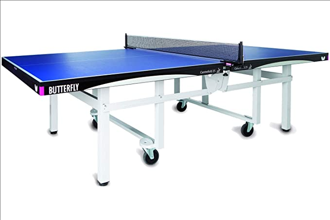 Butterfly Centrefold 25 Ping Pong Table Indoor Rollaway Game Table Ittf Approved Table Tennis Table For Tournaments Clubs Homes Institutions Professional Ping Pong Net Included No Assembly Sports Outdoors