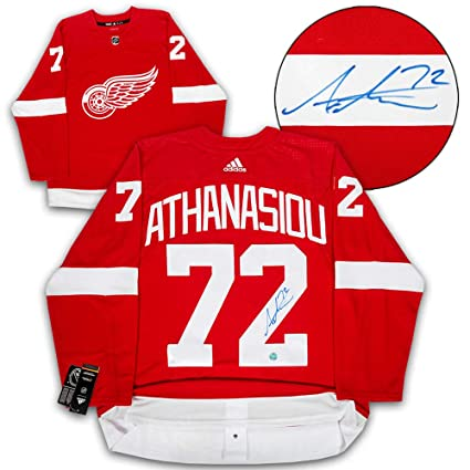 newest d3136 2d344 Andreas Athanasiou Detroit Red Wings Autographed Adidas ...