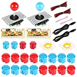 Hikig arcade game machine DIY parts kit - 2x arcade joystick / 20x