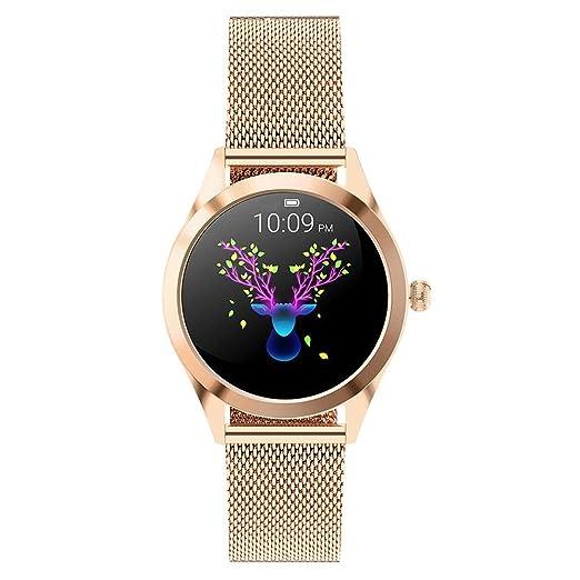 WUYANSE Reloj de Pulsera con Correa de Acero SmartWatch KW10 ...