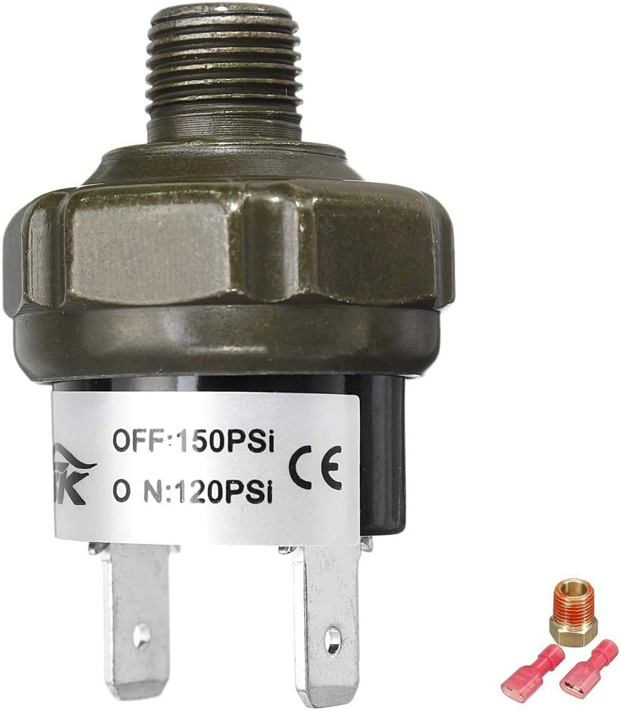 Farbe : 120 150Psi Auto Druckschalter 70 90 100 120 150 180psi 1//8 bis 1//4 NPT-Anschluss PSI Air Ride Kompressortank Druckabschaltung