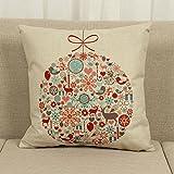 18 x 18 inch Cotton Linen Cushion Cover Throw Pillow Case Home Sofa Car Decor Christmas Decoration