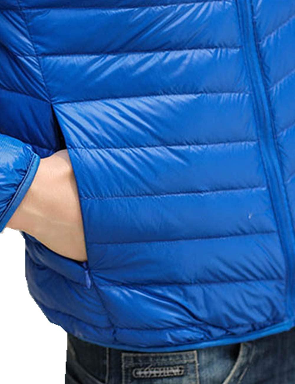 TXR Mens Lightweight Winter Hooded Packable Down Jacket