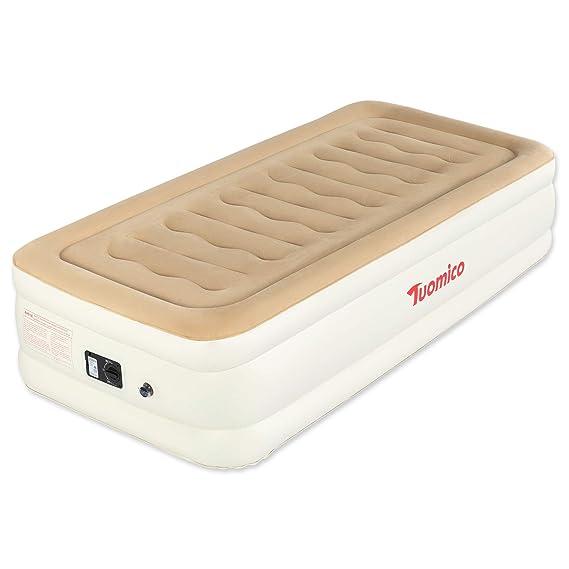 Amazon.com: Tuomico - Colchón hinchable para cama individual ...