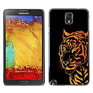 GagaDesign Phone Accessories: Hard Case Cover for Samsung Galaxy Note 3 - Orange Tribal Tiger by mcsharks