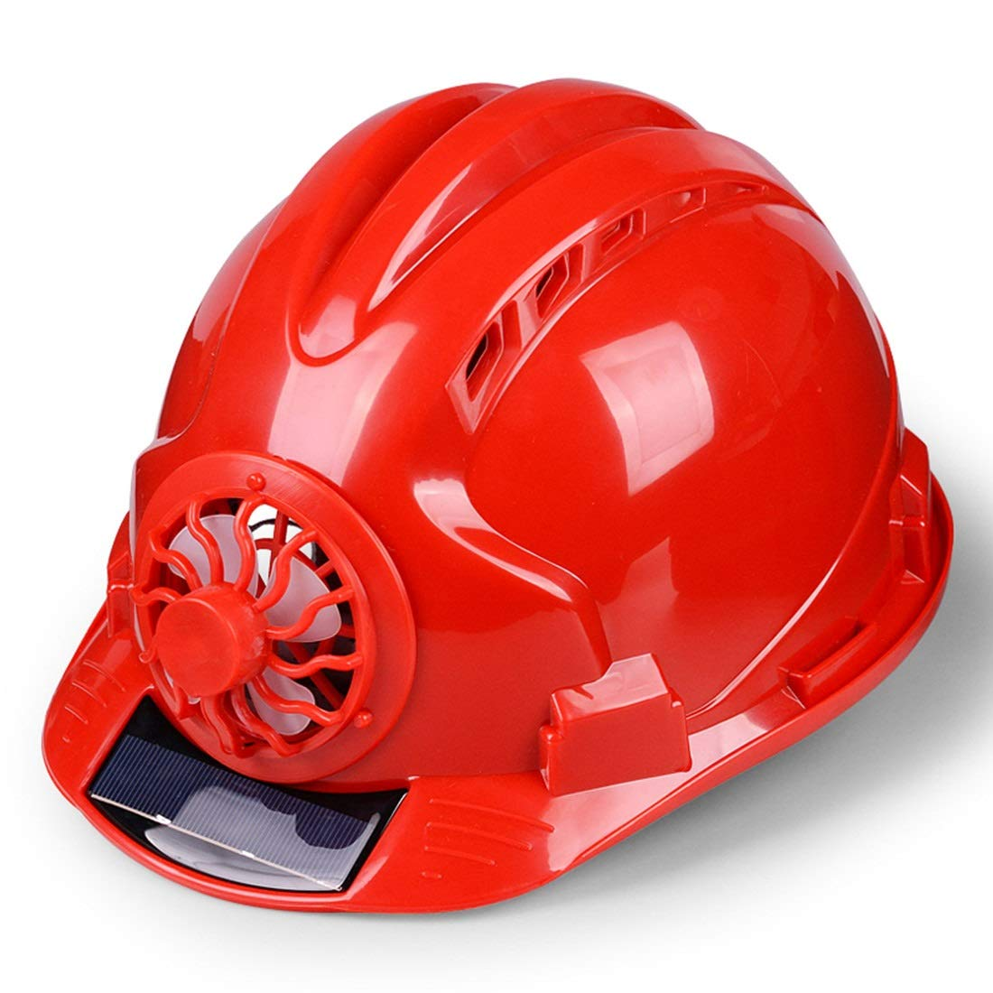 Lilade Adjustable Construction Helmet with 'Solar Fan' Vents-Meets ANSI Standards-Personal Protective Equipment, for Construction,Home Improvement and DIY Projects/PP Material ( Color : Red )