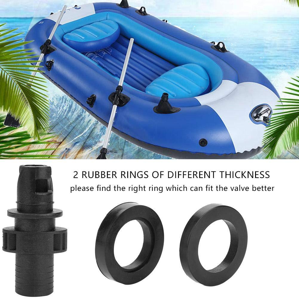 Adattatore per valvola Aria Nera Connettore a Vite per Tubo per Kayak da Barca VGEBY1 Adattatore per valvola Aria
