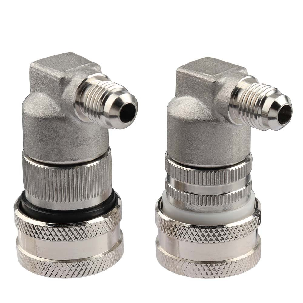 OneBom Stainless Steel Ball Lock Keg Fittings, Gas Liquid Quick Disconnect Set for Corny Kegs Homebrew (MFL Thread)