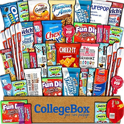 CollegeBox Care Package (45 Count) Snack