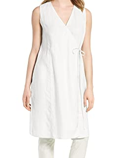 995d5b45d7 Amazon.com  Eileen Fisher Womens Petites Linen Handerkerchief Wrap ...