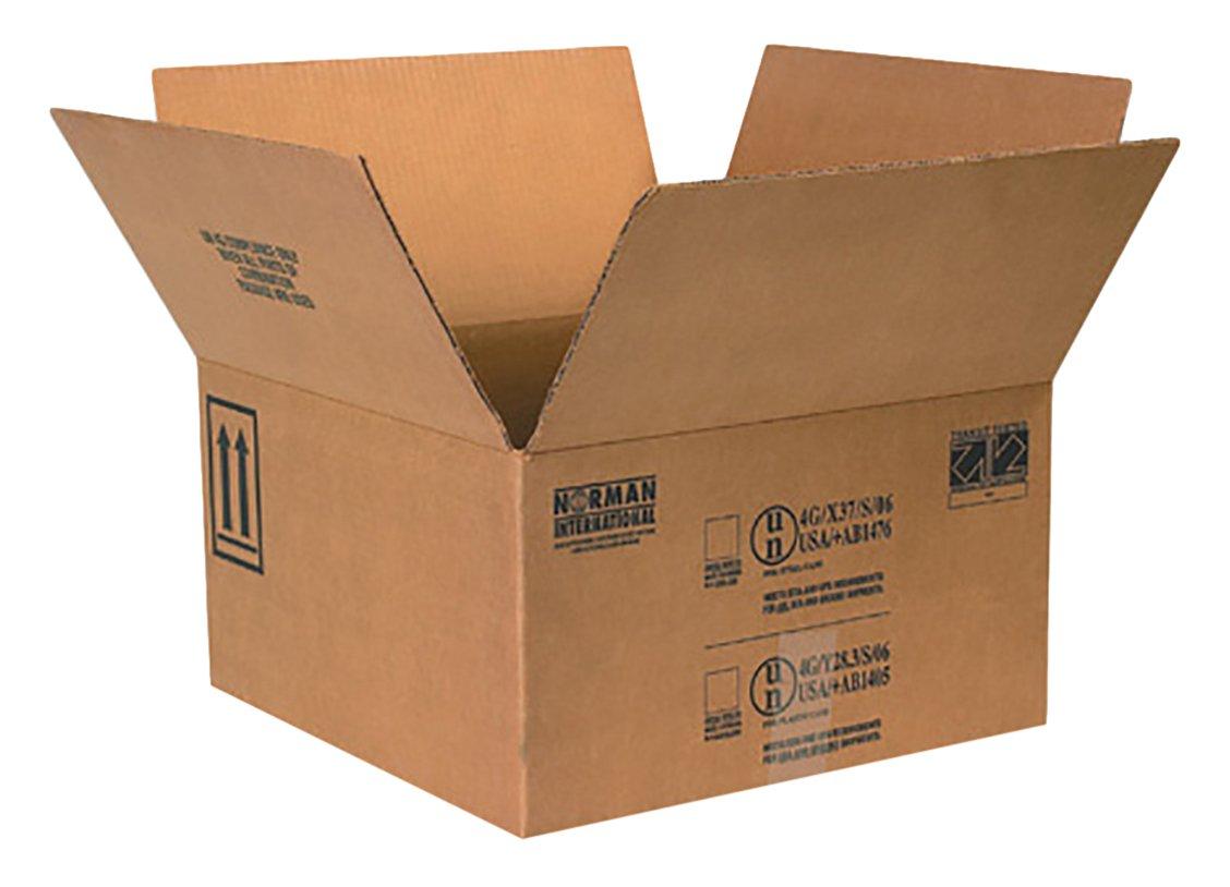 RetailSource B171709HM240 Hazmat Box, 9.3125'' Height, 17'' Width, 17'' Length, Brown (Pack of 240)