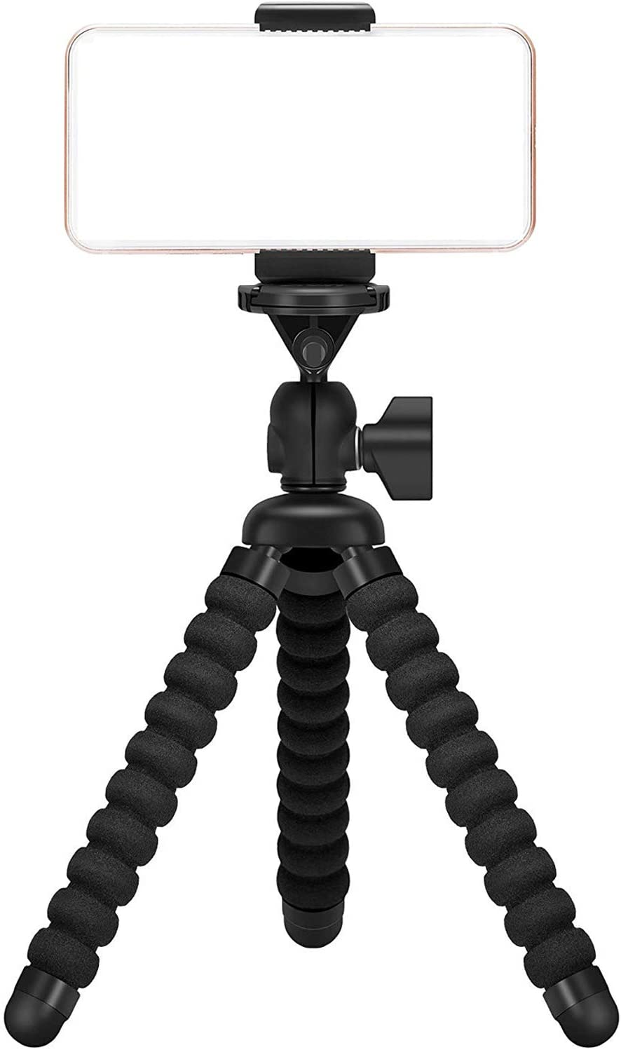 Ailun Digtal Camera Tripod Mount Stand Camera Holder for iPhone 11/11 Pro/11 Pro Max/X Xs XR Xs Max 8 7 Plus Digtal Camera Galaxy s20, s20+ S20Ultra s10 Plus S9+ Note 10 Camera and More Black: Electronics
