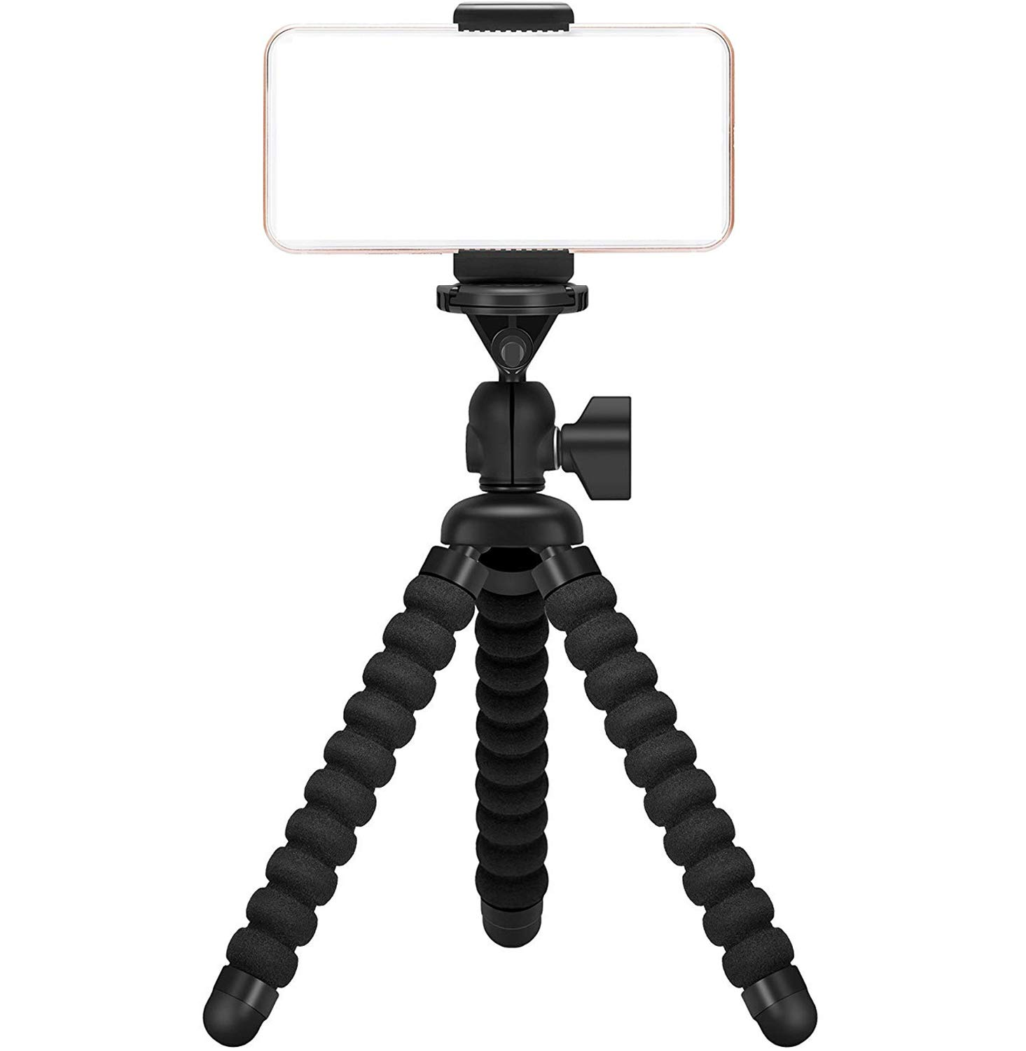 Ailun Digtal Camera Tripod Mount Stand Camera Holder for iPhone 11/11 Pro/11 Pro Max/X Xs XR Xs Max 8 7 7 Plus Digtal Camera Galaxy s10 plus S9+ S8 S7 S7 Edge Note 10 Camera and more Black