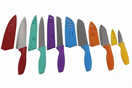 Amazon.com: Lightahead Stainless Steel Kitchen Knife Set 6 Knives ...