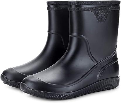 WGE Zapatos de jardinería Impermeables para Hombres, Botas de Lluvia Cortas, Impermeables, Antideslizantes, Botas de jardín, Zapatos para Hombres,: Amazon.es: Deportes y aire libre