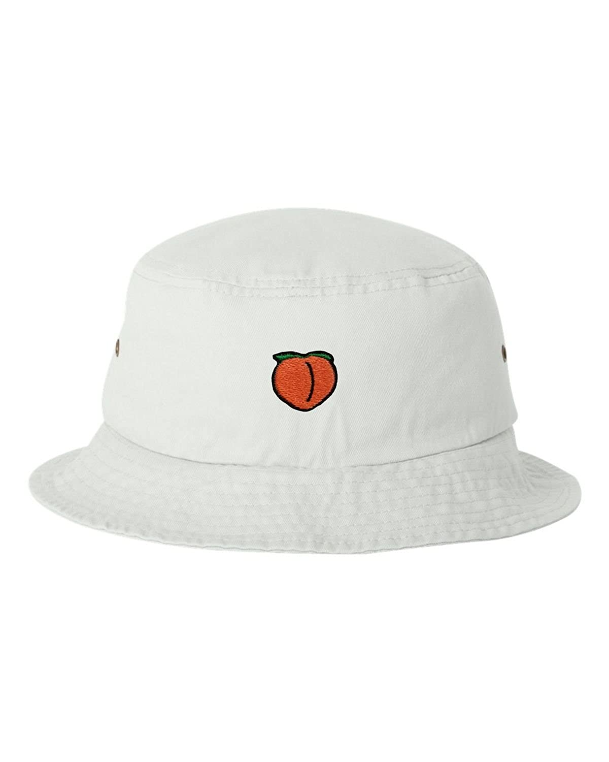 Go All Out Adult Peach Embroidered Bucket Cap Dad Hat