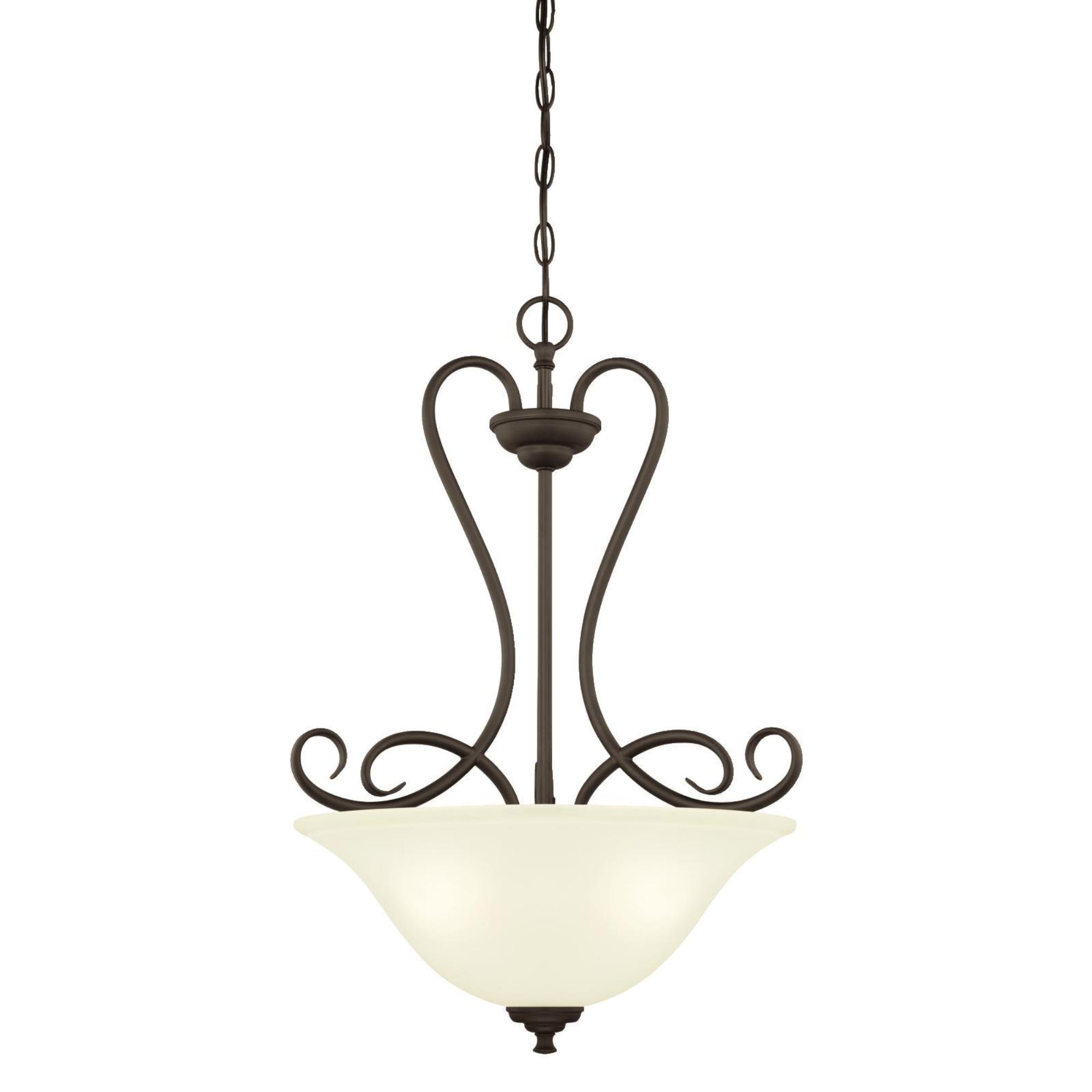 6305800 Dunmore Three-Light Indoor Pendant, Oil Rubbed Bronze Finish with Frosted Glass