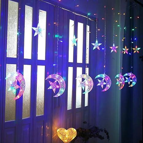 Lampe 20er LED Lichterkette 5m Mond Sterne Party Leuchte Licht Kinderzimmer