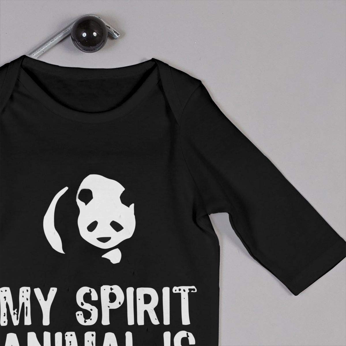 Long Sleeve Cotton Rompers for Baby Boys and Girls Soft My Spirit Animal is A Panda Crawler