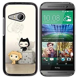 Be Good Phone Accessory // Dura Cáscara cubierta Protectora Caso Carcasa Funda de Protección para HTC ONE MINI 2 / M8 MINI // Cute Cat Friends